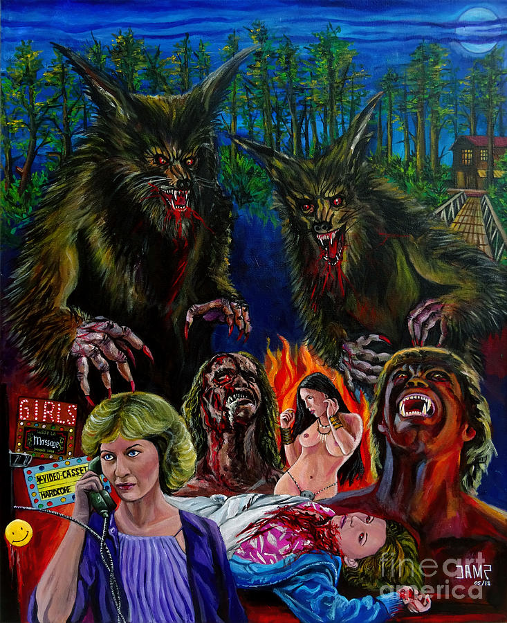 Werewolf Painting - The Howling by Jose Mendez
