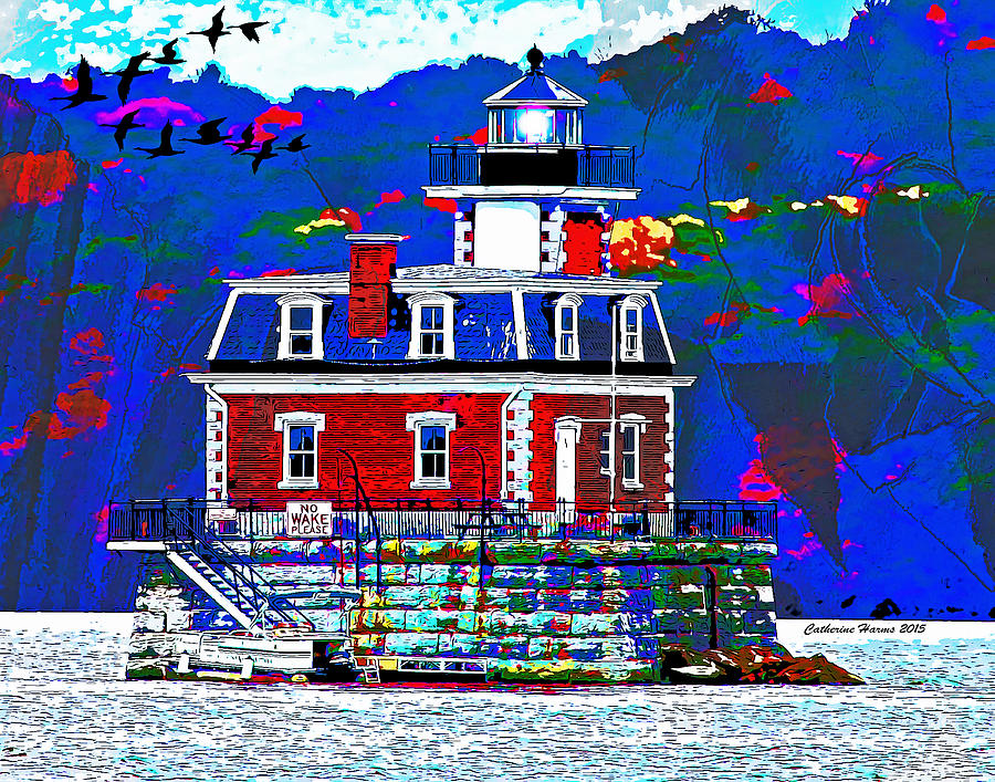 The Hudson Athens Lighthouse by Catherine Harms