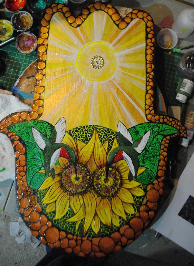The HummerSun Hamsa by Patricia Arroyo