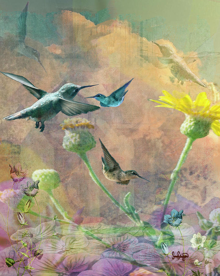 The Hummingbird Bouquet by Sandra Schiffner