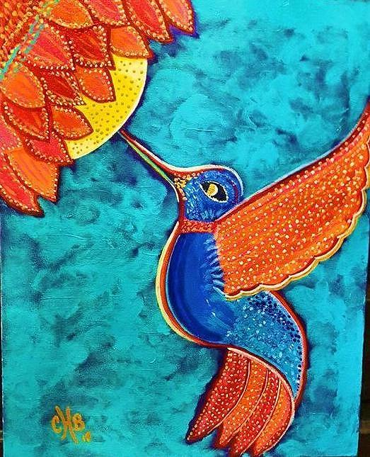 The Hummingbird Needs The Flower Painting