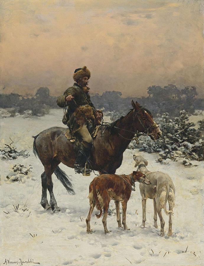 The Hunt By Alfred Von Wierusz Kowalski