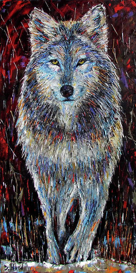 Debra Hurd Painting - The Hunt by Debra Hurd