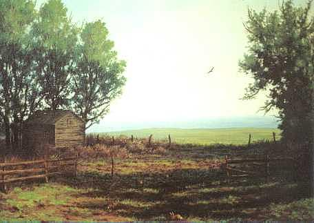 Landscape Painting - The Hunter And The Hunted by Steven Welch