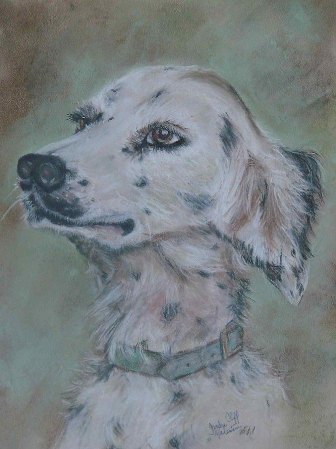Dog Drawing - The Hunter by Sandra Valentini