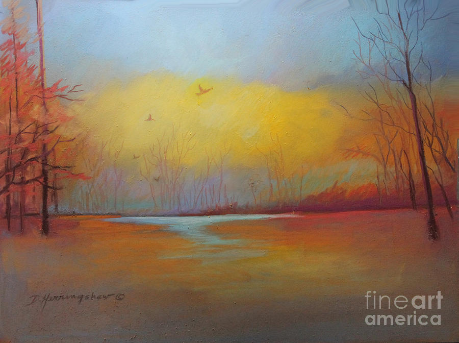 Autumn Painting - The Hunters by Delores Herringshaw