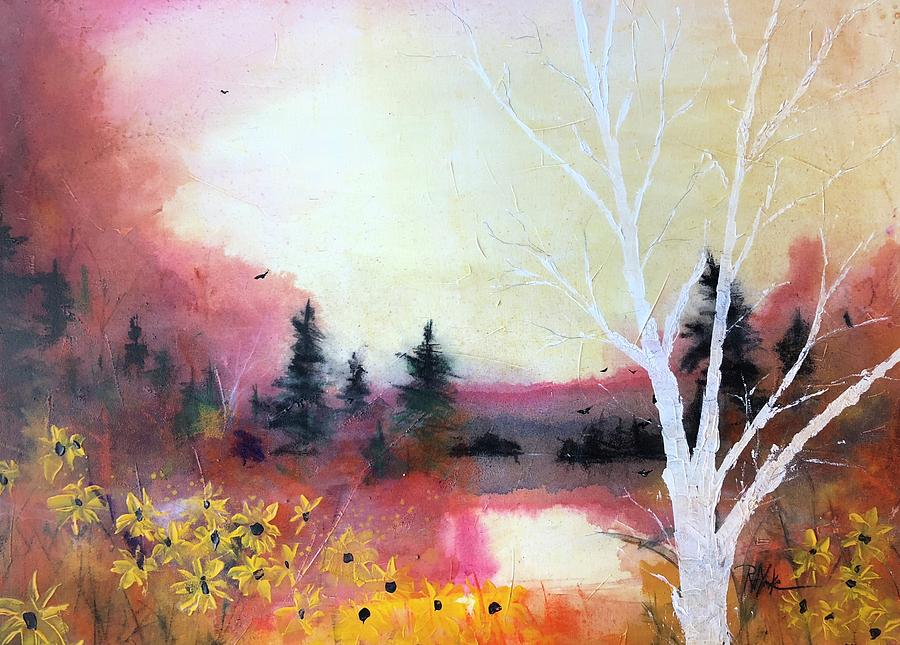 Watercolor Painting - The Hunters by Robert Yonke