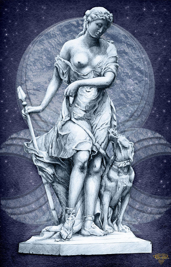 Diana Digital Art - The Huntress by Greg Piszko