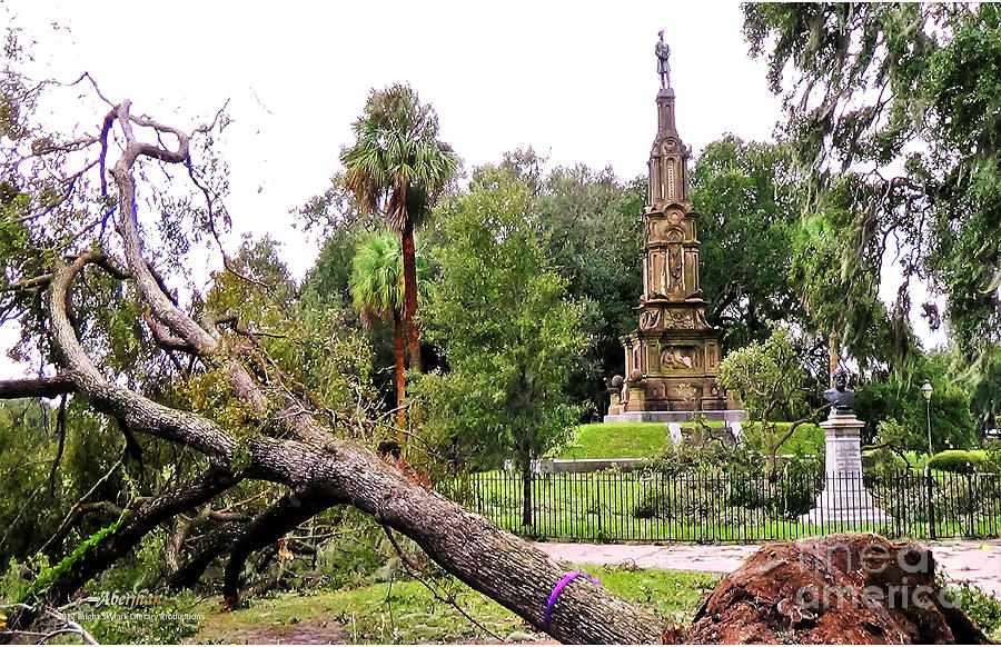 Savannah Photograph - The Hurricane and the Confederate Monuments by Aberjhani
