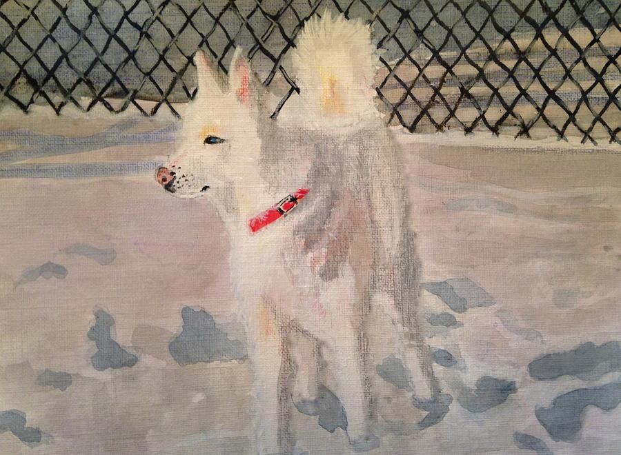 Acrylic Painting - The Husky by Danielle Allard
