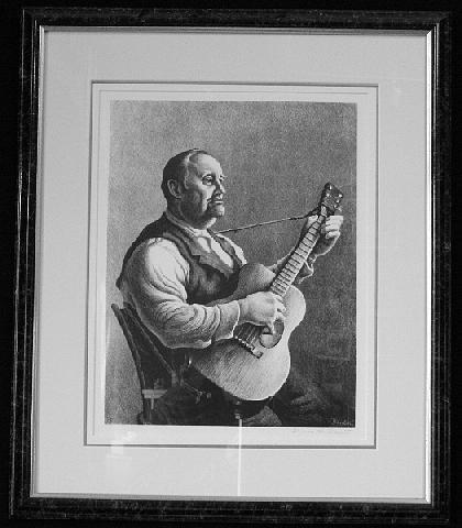 Thomas Hart Benton Drawing - The Hymn Singer F.74 by Thomas Hart Benton