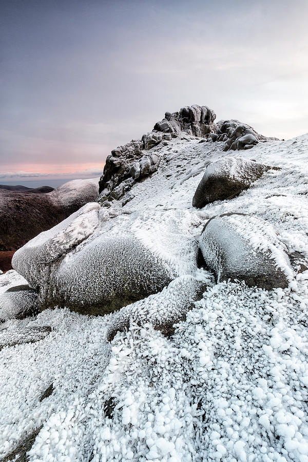 Landscapes Photograph - The Ice Queen Returns, North Tor Slieve Bearnagh by Glen Sumner