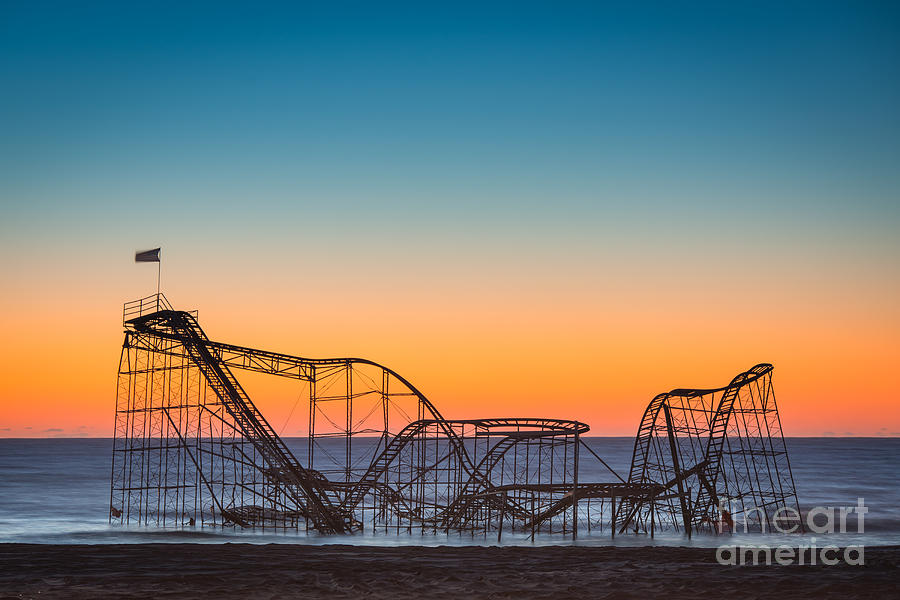 Nikon D800 Photograph - The Iconic Star Jet Roller Coaster by Michael Ver Sprill