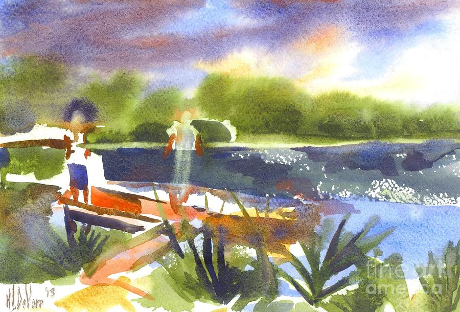 Water Painting - The Ideal Catch by Kip DeVore