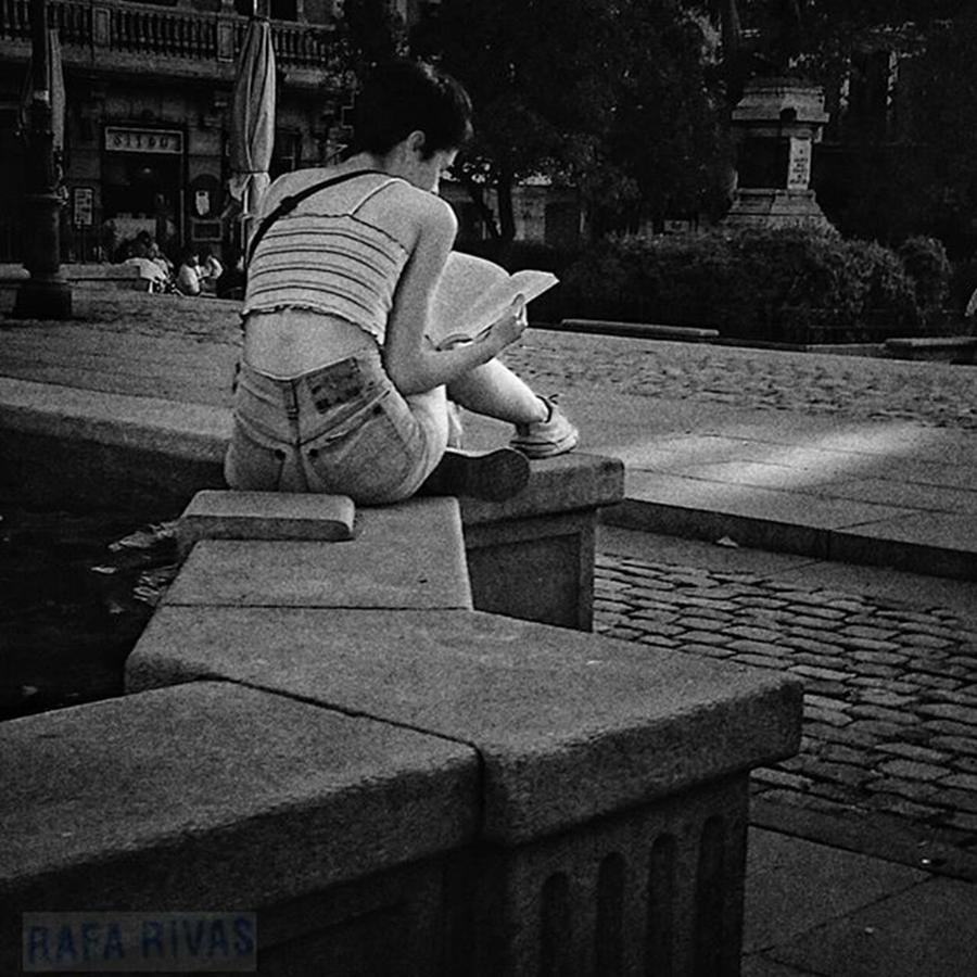 Citylife Photograph - The Illuminated Girl  #girl #woman by Rafa Rivas