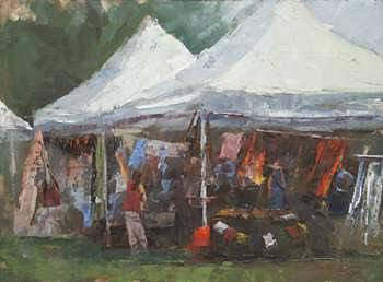 People Painting - The Imports Booth by Joshua Been