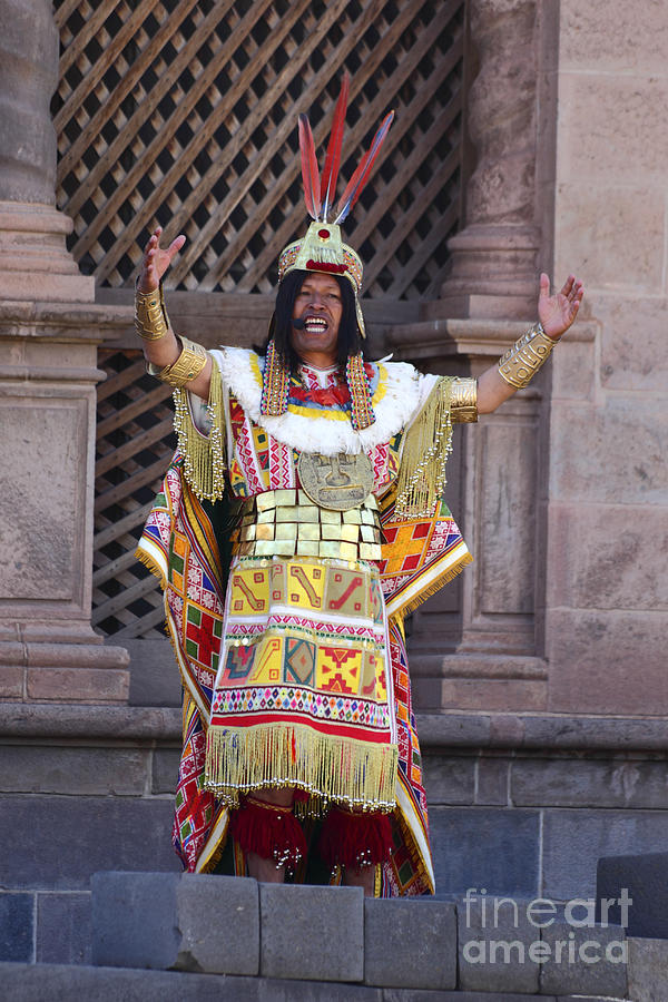 Peru Photograph - The Inca At Inti Raymi by James Brunker