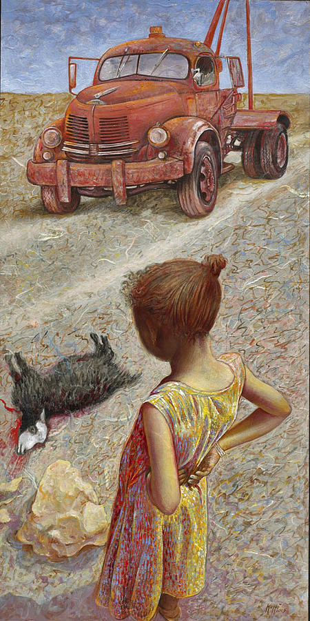 Child Painting - The Incident by Momo Calascibetta