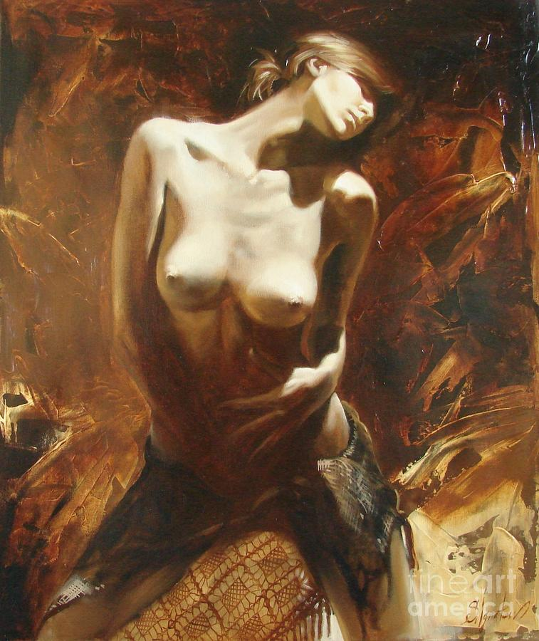 Oil Painting - The incinerating passion by Sergey Ignatenko