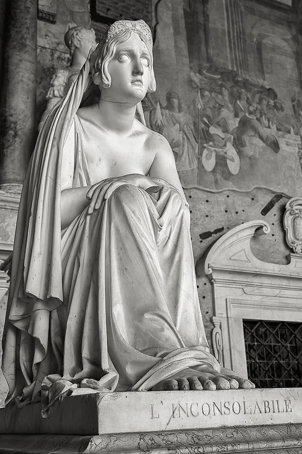 Italy Photograph - The Inconsolable statue at Pisa by Rick Starbuck