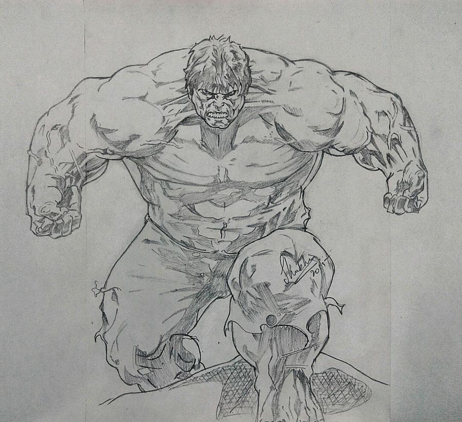 Hulk Drawing   The Incredible Hulk By Shubham Gupta