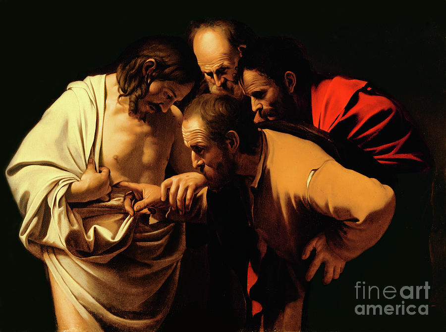Michelangelo Painting - The Incredulity Of Saint Thomas by Caravaggio