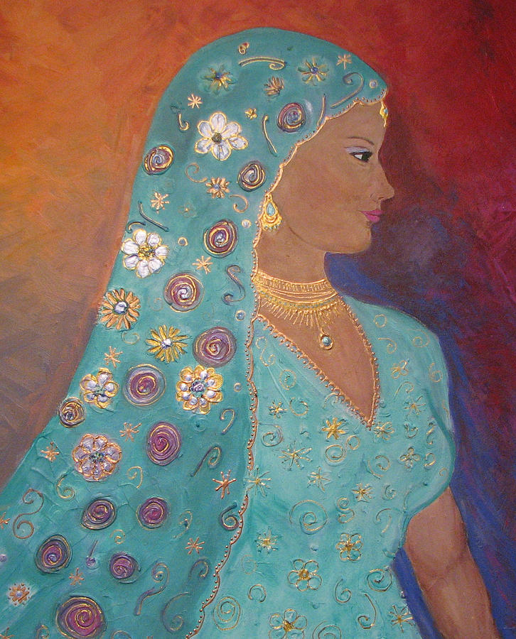 The Indian Bride Painting by Carmen Faya-Gomila