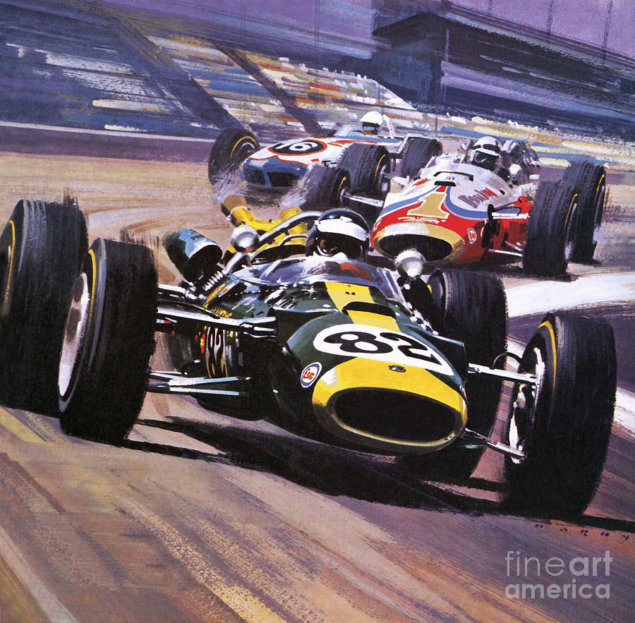 The indianapolis 500 painting by wilf hardy for Indianapolis painting company
