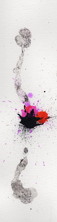 Ink Painting - The Inexplicable Ignition Of Time Expanding Into Free Space Phase Two Number 02 by Mark M  Mellon