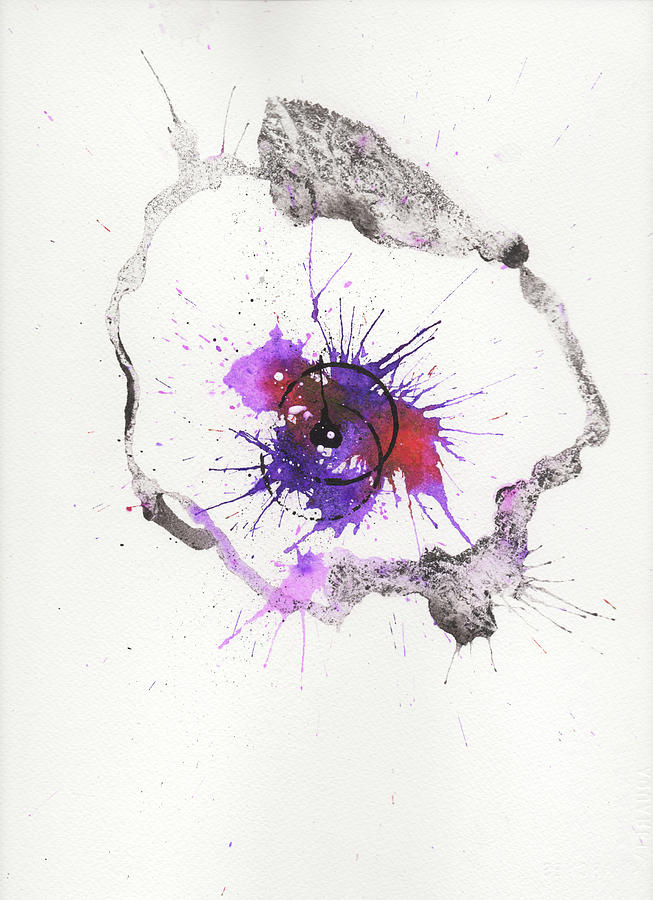 Ink Painting - The Inexplicable Ignition Of Time Expanding Into Free Space Phase Two Number 04 by Mark M  Mellon