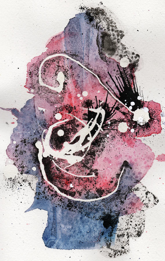 Ink Painting - The Inexplicable Ignition Of Time Expanding Into Free Space Phase Two Number 15 by Mark M  Mellon