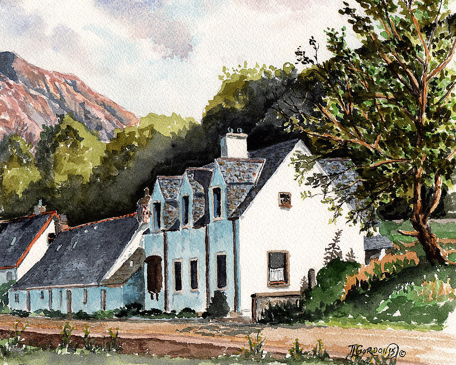 Tim Painting - The Inn Scotland by Timithy L Gordon
