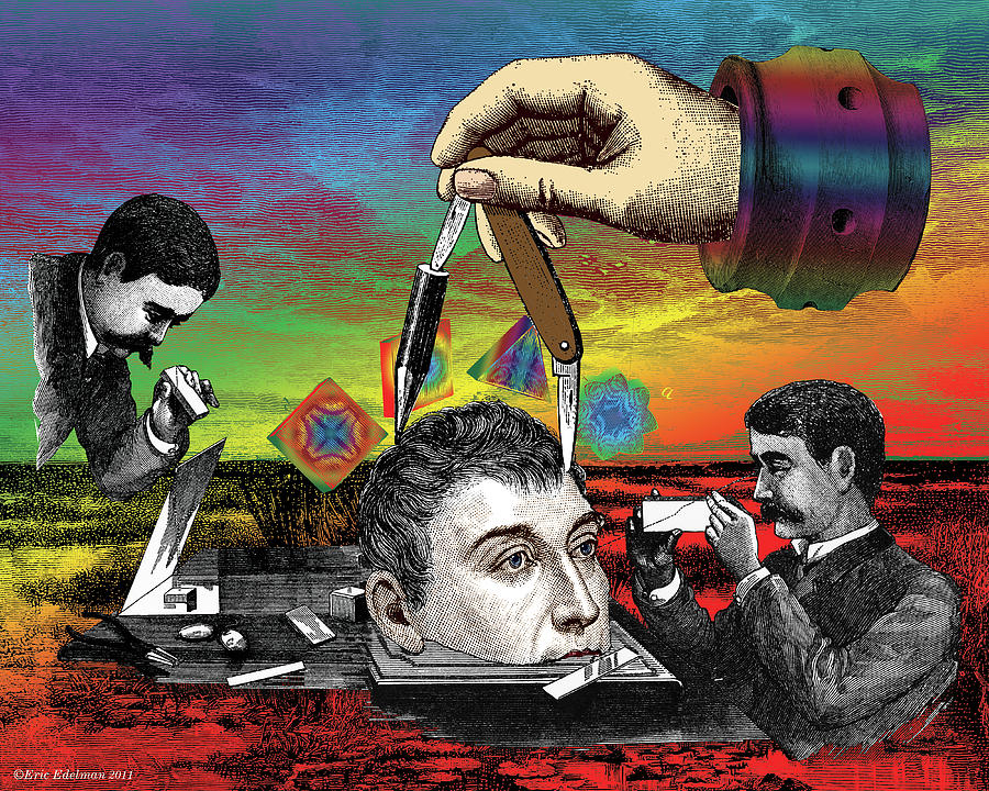 Digital Collage Digital Art - The Inquisition by Eric Edelman