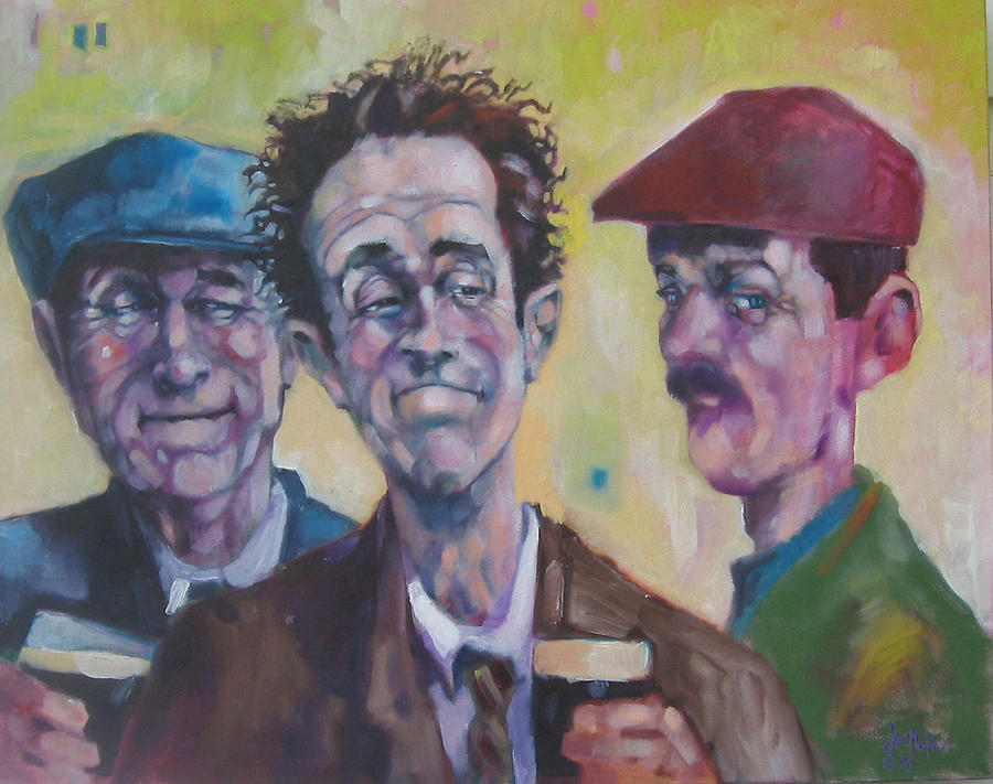 Figure Painting - The Inside Joke by Kevin McKrell