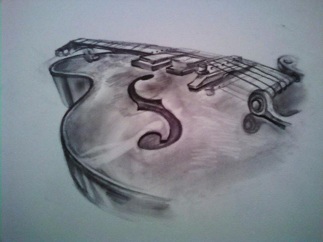Guitar Drawing - The Instrument by Ashley Jahnke