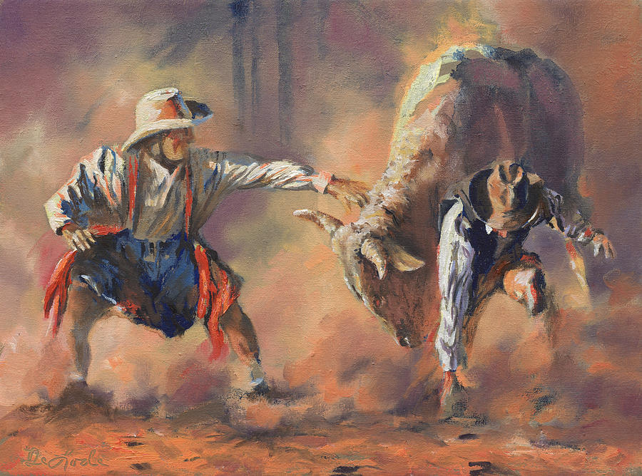 Rodeo Painting - The Insurance Man by Mia DeLode