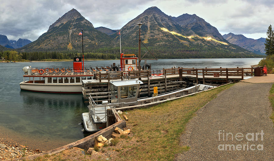 Waterton Lakes Photograph - The International At Goat Haunt by Adam Jewell