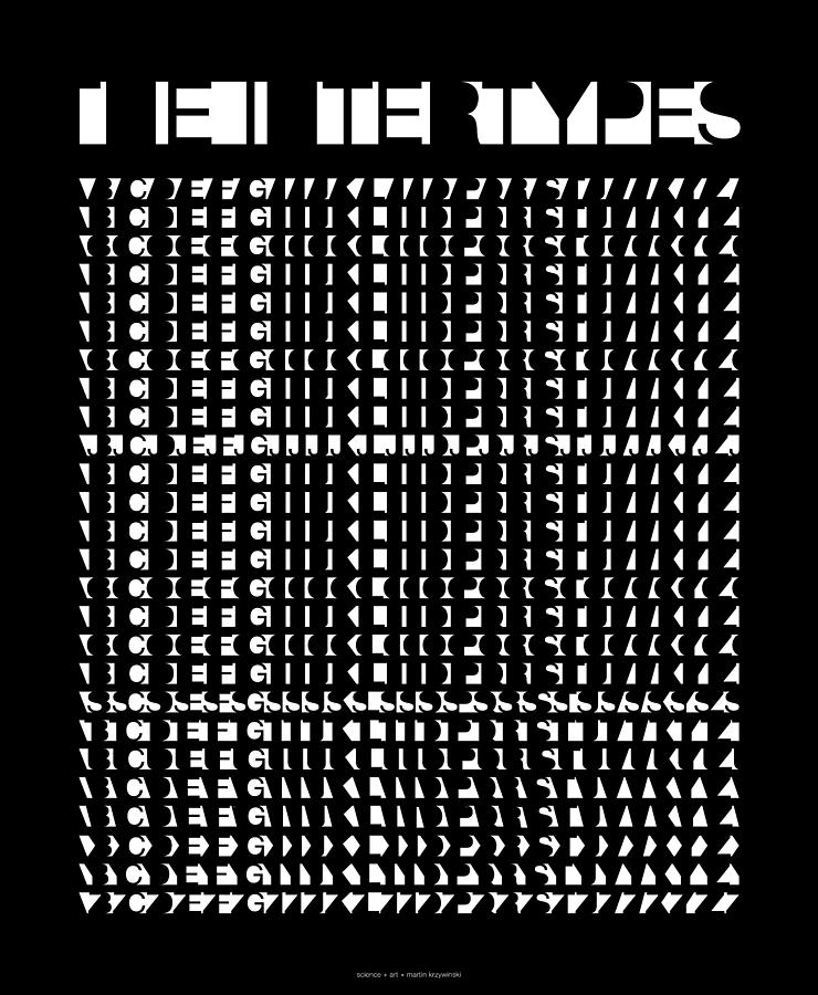 Helvetica Digital Art - The Intertypes - Spaces Between Letters  by Martin Krzywinski