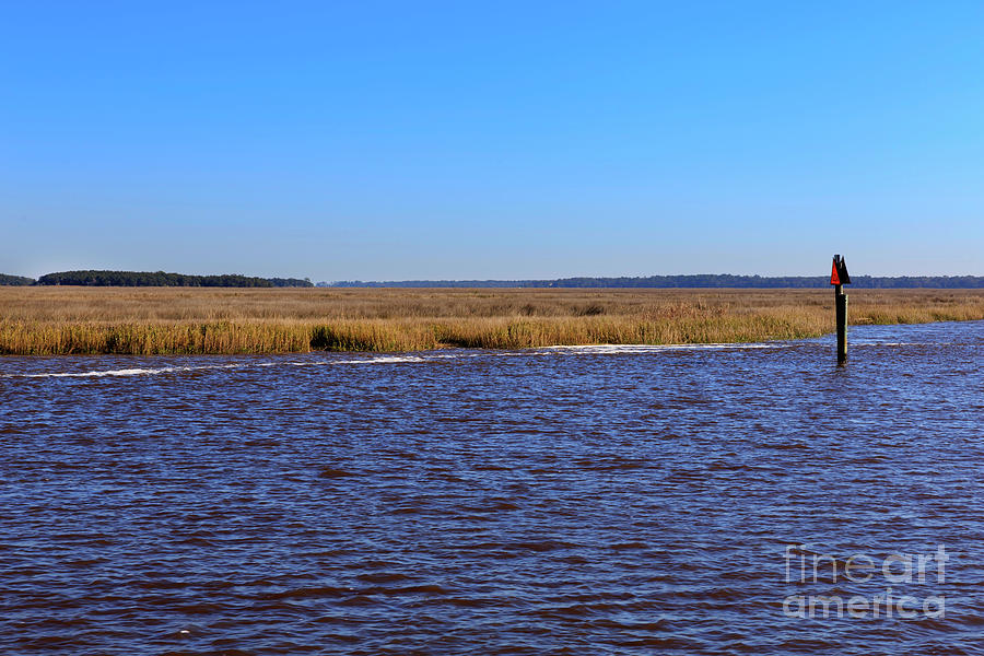 Intracoastal Waterway Photograph - The Intracoastal Waterway In The Georgia Low Country In Winter by Louise Heusinkveld