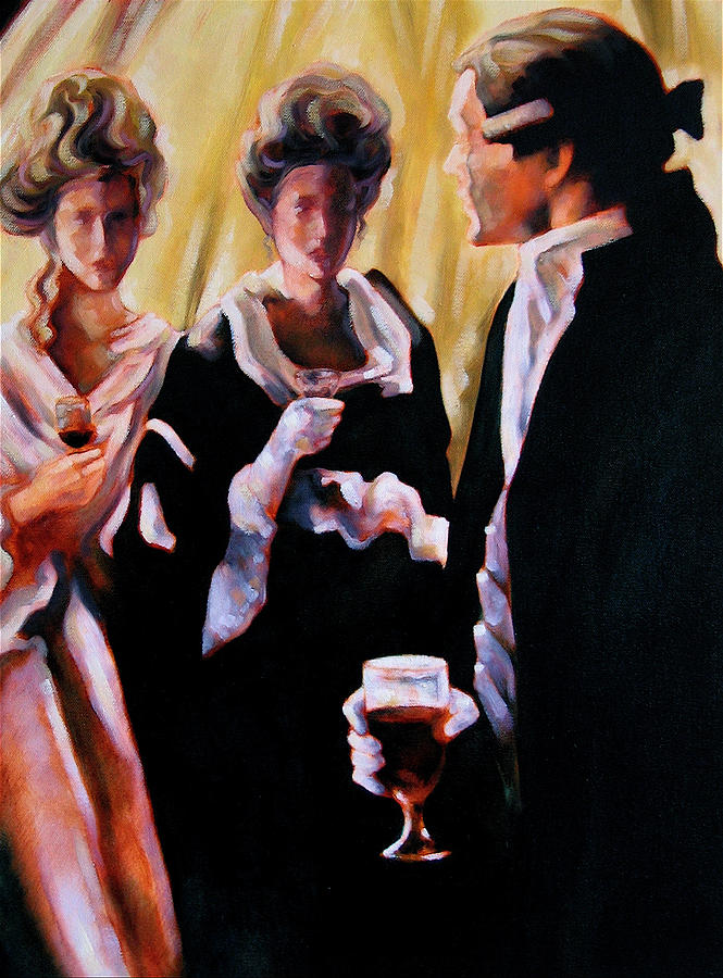 Figurative Painting - The Introduction by Stuart Gilbert