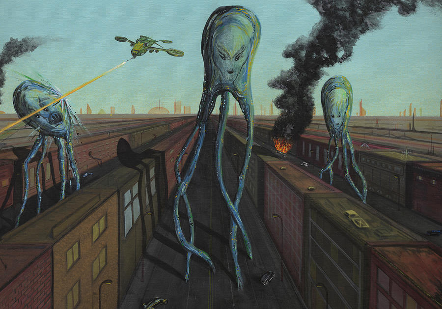 War Of The Worlds Painting - The Intruders by Jason Girard