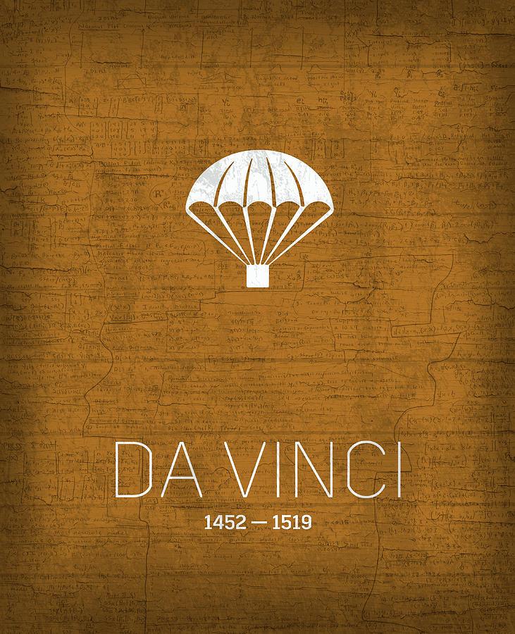 Inventor Mixed Media - The Inventors Series 022 Da Vinci by Design Turnpike
