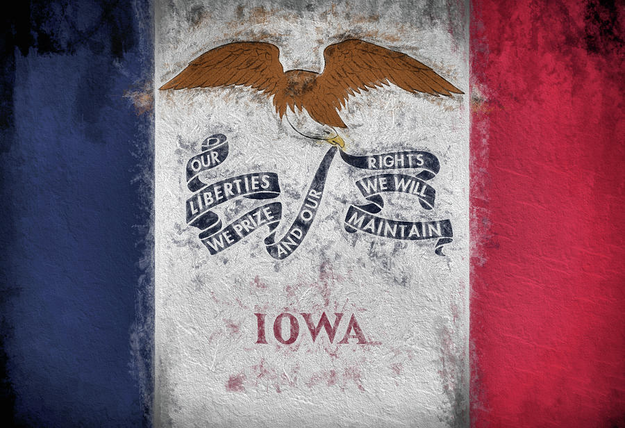 Iowa Flag Digital Art - The Iowa Flag by JC Findley