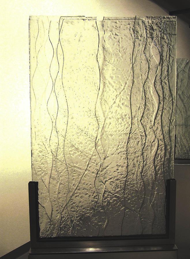 Glass Sculpture - the Iris River by Sarah king