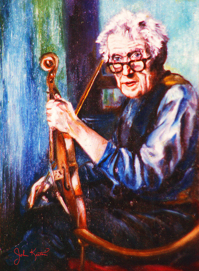 Irish Painting - The Irish Violin Maker by John Keaton