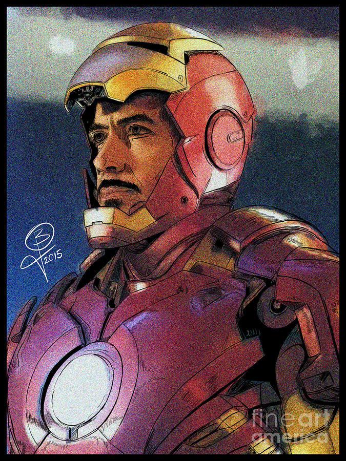 Iron Man Digital Art - The Iron Avenger by Joseph Burke