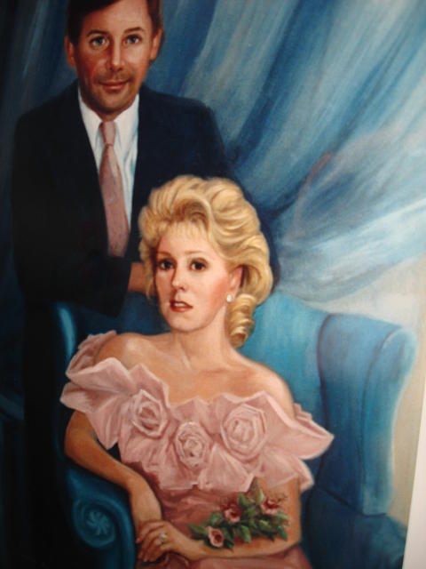 Family Portrait Painting - The Irvings by Catherine Amendola