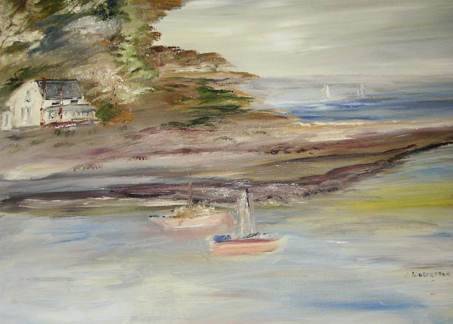 Seascape Painting - The Island Cove by Edward Wolverton