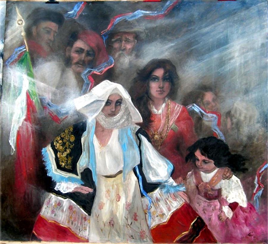 Italy Painting - The Italia Family by Elisabeth Nussy Denzler von Botha