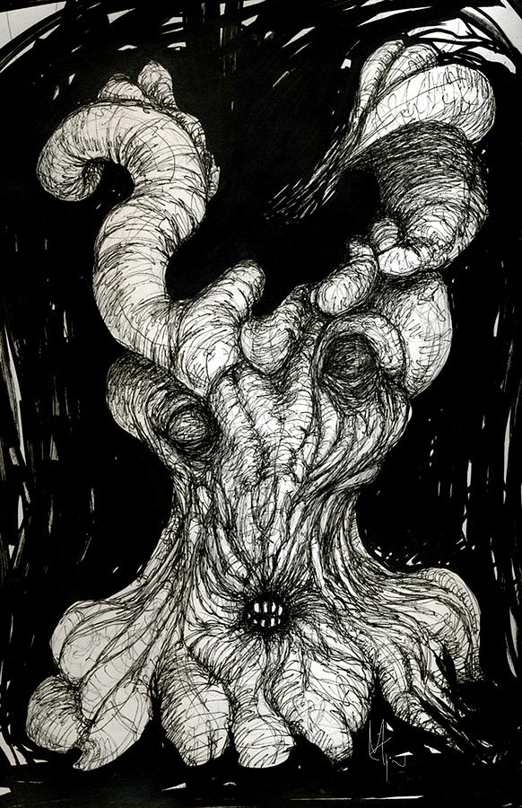 Surreal Drawing Drawing - The Itch by Mark M  Mellon